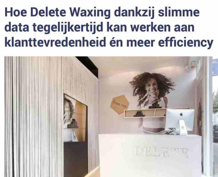 case delete waxing platform driven by data