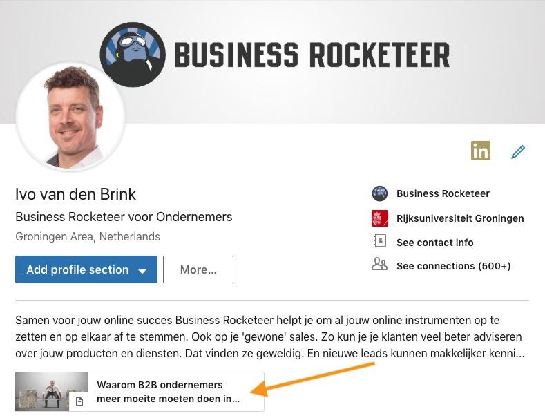 b2b ondernemer weggever linkedin business rocketeer