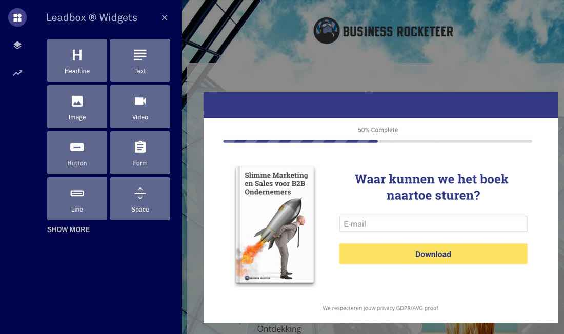 leadpages landingspagina maken business rocketeer b2b ondernemer