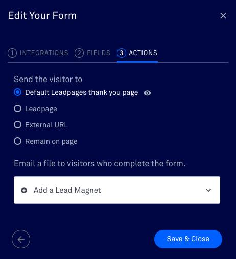 leadpages formulier