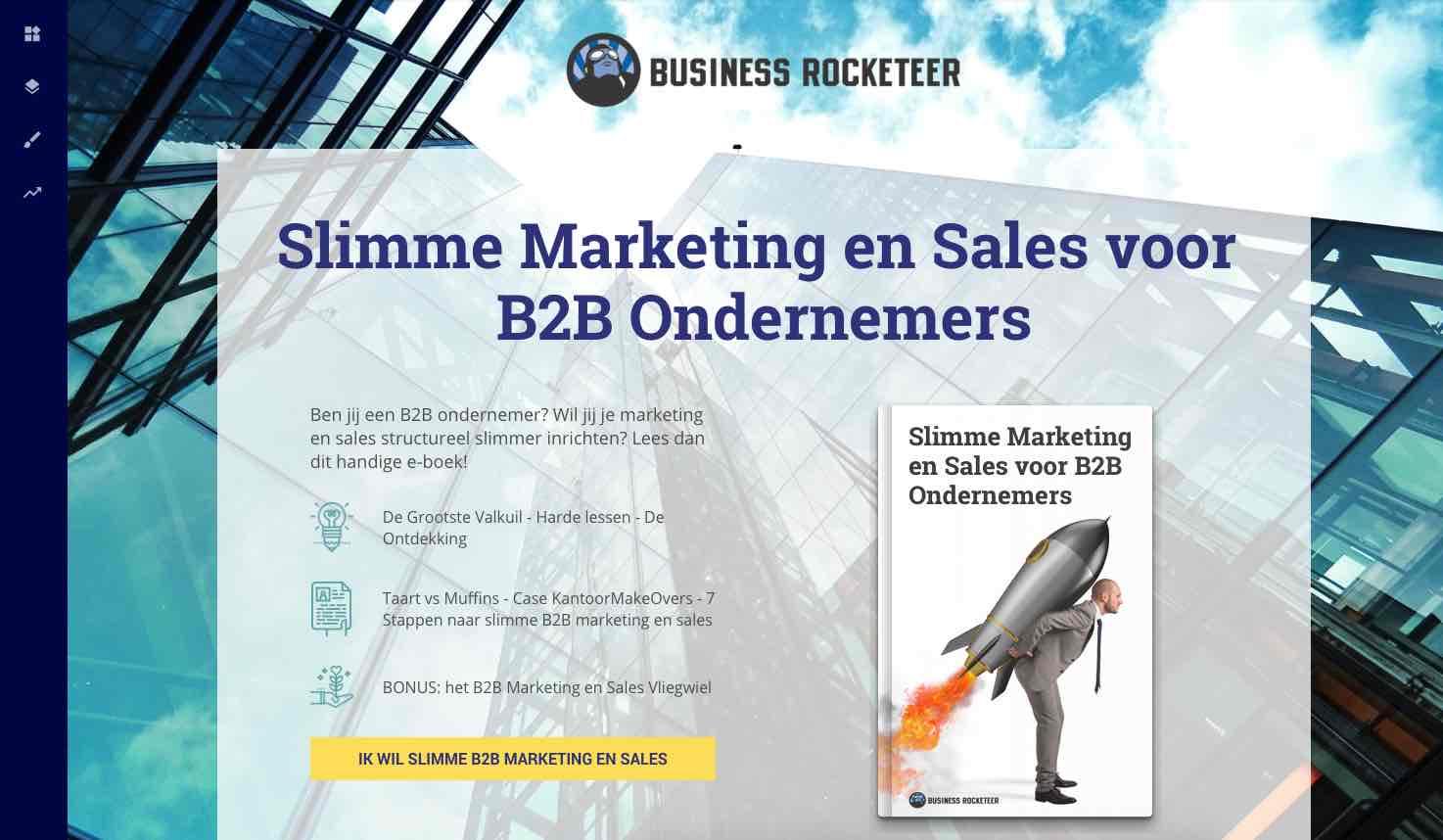 leadpages landingspagina business rocketeer